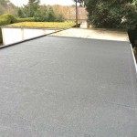 Asbestos garage roofs converted to felt roof