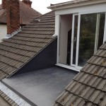PVC single ply balcony roof at home