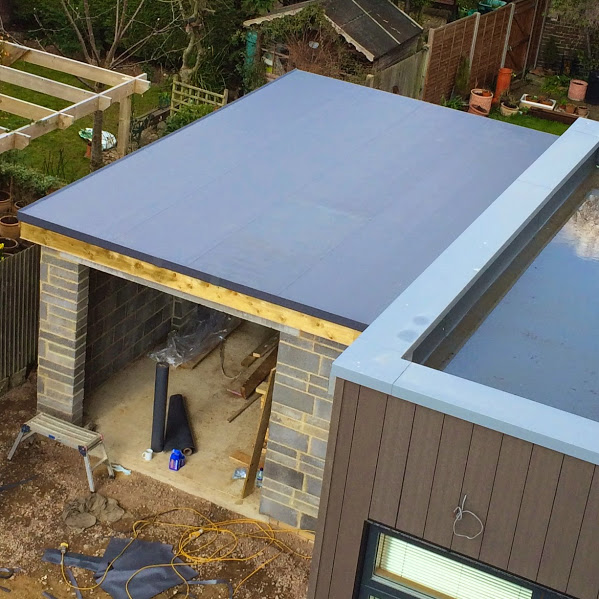 Single Ply Roof Installation : Single ply garage roofing installation sarna roof